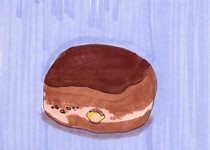 Boston Creme Donut - 5x7 inches